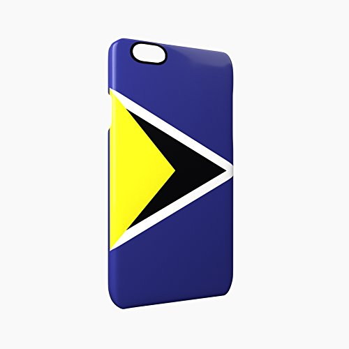 Flag of Saint Lucia Glossy Hard Snap-On Protective iPhone 6 / 6S Case Cover