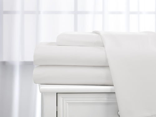 Deluxe 4 Piece 400 thread count 100% Cotton Sheet Set (Twin, White) Deluxe Twin Bedding Set