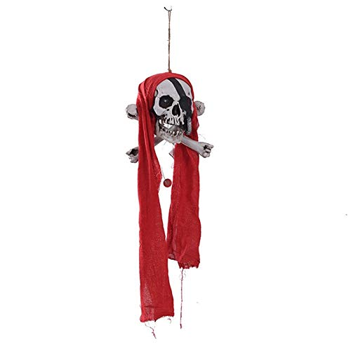 Halloween Door Wall Hanging Decoration String Up Ghost Skull Head Home Office Bar KTV Haunted House Escape Halloween Party Decor ()