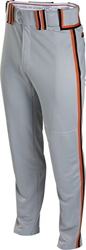 Rawlingsスポーツ用品メンズsemi-relaxed Pant with Braid B00J12BSOA XL|Grey/Black/Burnt Orange Grey/Black/Burnt Orange XL