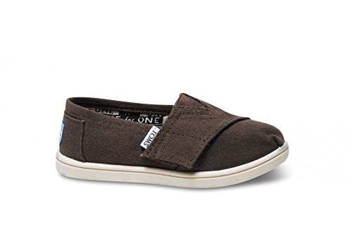 Infants Tiny Feet - TOMS Chocolate Canvas Classic Tiny Infant ALPRG 013001D13-CHOCO (SIZE: 3D)