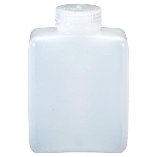 Nalgene HDPE Square Narrow Mouth Bottle (8- Ounce)