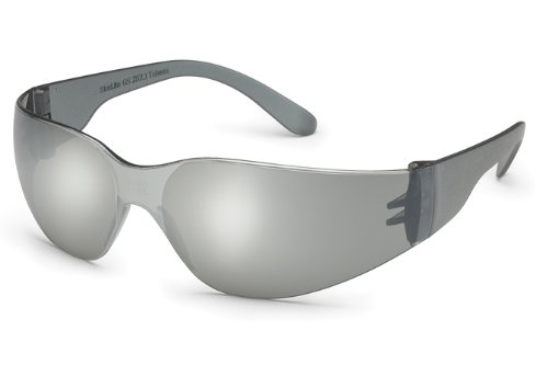 (Gateway Safety 468M UL-Certified StarLite Safety Glasses, Silver Mirror Lens, Gray Temple (Pack of)