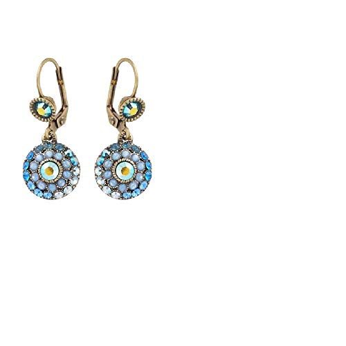 Michal Negrin FLOWER EARRINGS BLUE Dangle #100157931011 ()