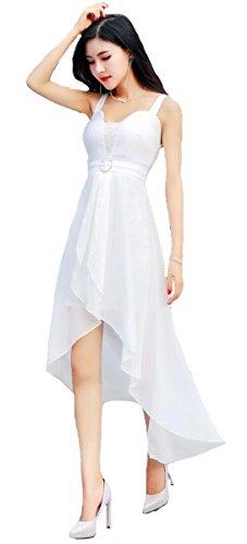 香ばしい新鮮な分子KimBerley ノースリーブ シフォン ロング ミニ タイト ワンピース フィッシュテール セクシー パーティー ドレス ナイトドレス キャバ嬢