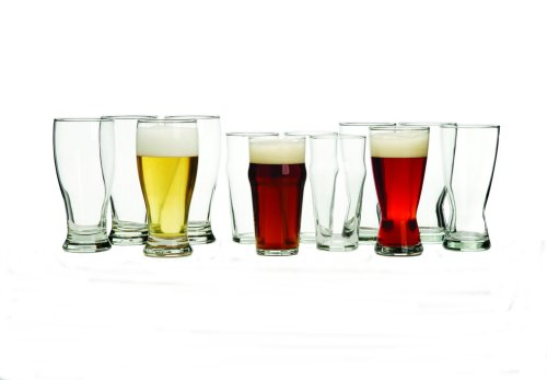 Libbey International 12-Piece Beer Glass Set (Glasses Bar Beer)
