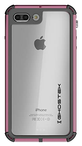 - Ghostek Atomic Full Body Waterproof Case Compatible with iPhone 8 Plus / 7 Plus - Pink