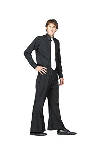 70's Bell Bottom Pants Costume (70's Bell Bottom Pants Costume (Black;X-Large))
