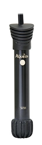 Aqueon 100106251 Preset Aquarium Heater,Black, 50W