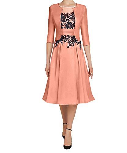 Festlichkleider Partykleider Damen Langarm 2018 Bolero 3 Pfirsisch Charmant Abendkleider mit Knielang 4 Kurzes Brautmutterkleider x7YdwdqRa