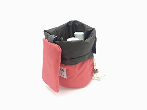 OZZOY Fashion Women Makeup Bag Hanging Toiletries Travel Kit Jewelry Organizer Cosmetic Bag Wth a Mini Bag (Pink)