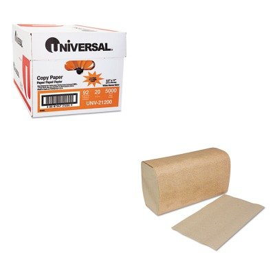 KITSCASK1850AUNV21200 - Value Kit - Tork Single-Fold Towels (SCASK1850A) and Universal Copy Paper (UNV21200)
