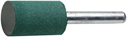 (STRAIGHT/ストレート) ゴム砥石 φ16×26mm 6mm軸付き 3ピース 19-5850