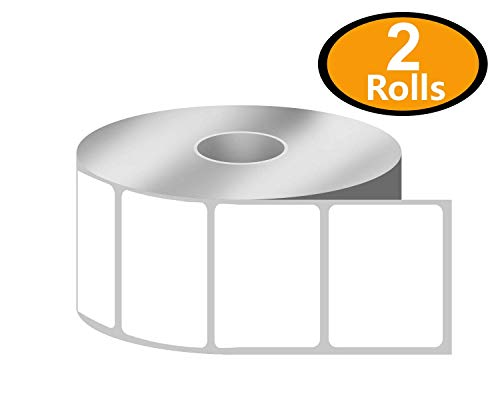BETCKEY - 1.25 x 1 UPC Barcode & Address Labels Compatible with Zebra & Rollo Label Printer,Premium Adhesive & Perforated[2 Rolls, 2760 Labels]
