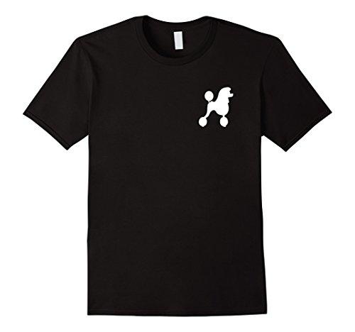 Poodle Skirt Fashion (Mens Poodle Skirt 1950's Sock Hop Costume T-Shirt XL Black)