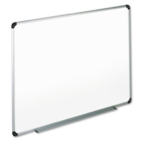 Universal Dry Erase Board, Melamine, 48 x 36 Inches, Black/Gray Aluminum/Plastic Frame (43724) (2 Boards)