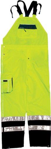 ML Kishigo RWB106 Brilliant Series Rainwear Bib, Fits 4X-Large and 5X-Large, Lime
