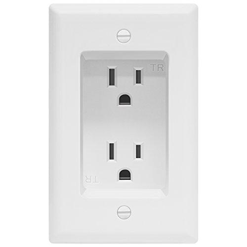 TOPGREENER Recessed Duplex Receptacle Outlet, Tamper-Resistant, Size 1-Gang 4.48