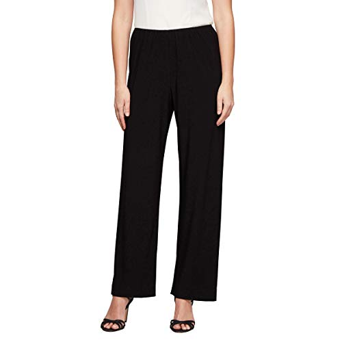 - Alex Evenings Women's Straight Leg Dress Pants (Petite Regular), Black Matte Jersey, S