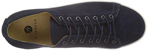 H Par Hudson Mens Pryor Sneakers En Daim Marine