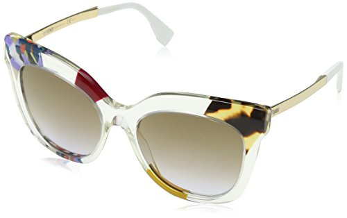 Fendi Women's Jungle Printed Sunglasses, Honey Gold/Brown Violet, One - Fendi Eye Frames
