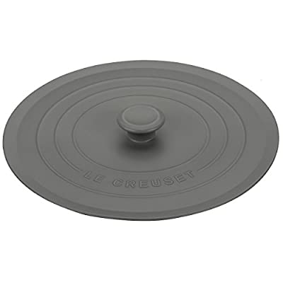"Le Creuset FB708-7F Silicone Cookware Lid, 8"", Oyster"