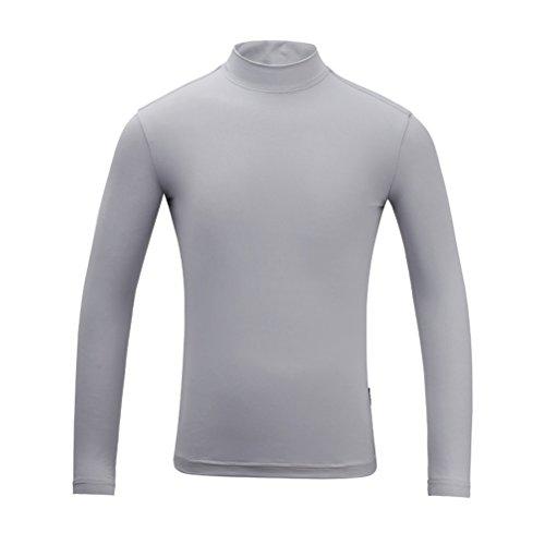 Kayiyasu インナーシャツ キッズ ゴルフウェア ジュニア ゴルフシャツ 女の子 UVカット 薄手 夏物用 薄物 長袖 下着 日焼け止め 021-xsty-yf-137(M(130cm) ブルー)