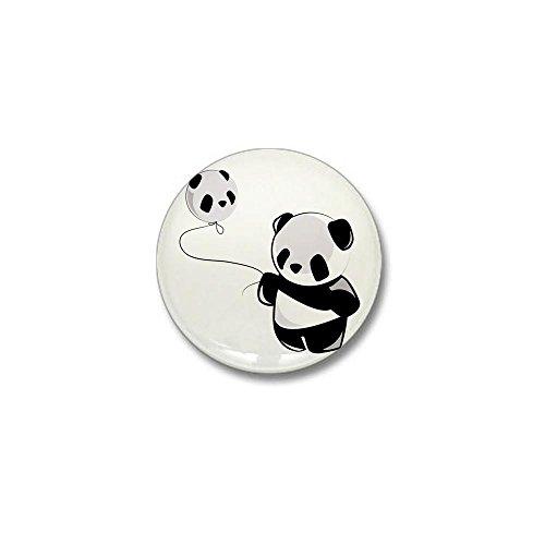 CafePress Panda With Balloon Mini Button 1