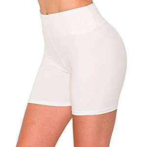 ALWAYS Women's High Waist Bike Shorts – Athletic Workout Tummy Control Stretch Running Yoga Pants