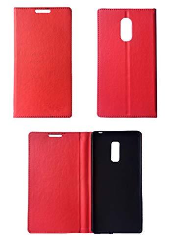 KANICT Leather Flip Cover for Lenovo Tab V7 Tablet  Red