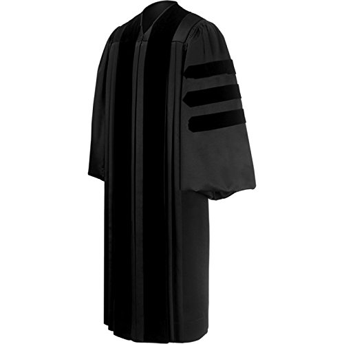 Black Pastor / Clergy Robe – Deluxe Fluted Fabric Clergy Robes For Pa...