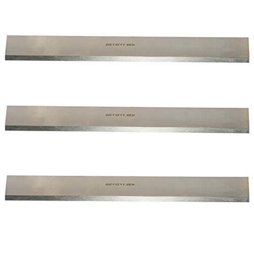 "8 Inches Industrial Planer and Jointer Blades Knives Replacement for Grizzly Model G6698, Oliver and other 8"" Woodworking Thickness Planer 200x25x3mm,3pcs"