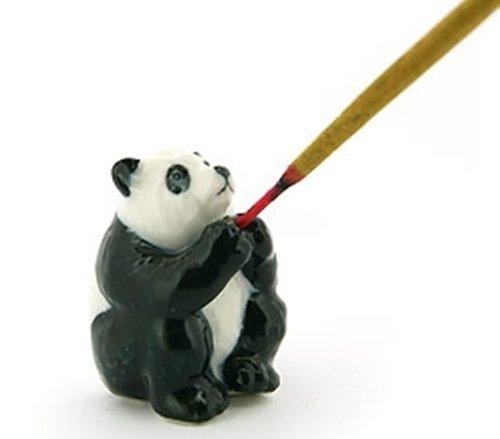 Dollhouse Miniatures Ceramic Panda Incense FIGURINE Animals Decor by ChangThai Design