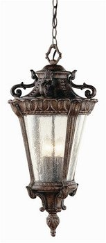 "Trans Globe Lighting 4843 PA Outdoor Heritage 28.25"" Hanging Lantern, Patina"