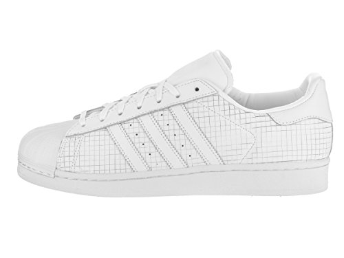 Adidas Originals Mens Superstar Foundation Tillfälliga Gymnastiksko Vit / Vit / Vit