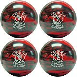 EPCO Candlepin Bowling ball-コブラProゴム、レッド&ブラック4つボール 4 1/2 inch- 2lbs. 6oz.  B078FZX7Y3