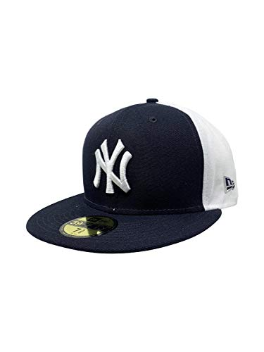 New Era Mens New York Yankees 59FIFTY MLB Authentic Collection Baseball Hat 5950 Caps (7 3/8, Y2K - Fitted Pinwheel Cap