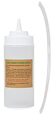 Suse's Kinder Duster Bottle, Hand Diatomaceous Earth Powder Pesticide Applicator, Wide Mouth for Easy Fill