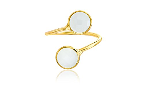 Lesa Michele Mother of Pearl Bypass Ring for Women (Size 7)