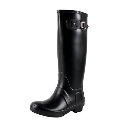 West BLVD Seattlev2.0 Waterproof Boots, Black Rubber, 11