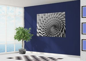 Cool 3D Optical Illusion Swirl Stone Slabs Wallpaper Wall Mural Large 150cm Wide X 1175