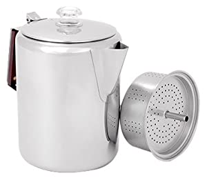 Amazon.com : GSI Glacier Stainless Coffee Perk Cup, 12 : Camping Coffee And Tea Pots : Sports ...