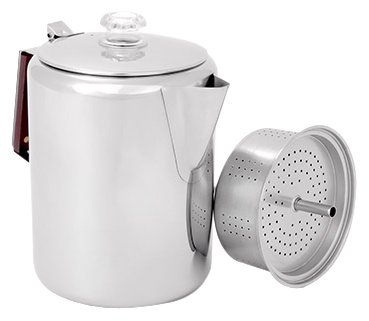 GSI Glacier Stainless Coffee Perk Cup, 12 (Stainless Camping Percolator)