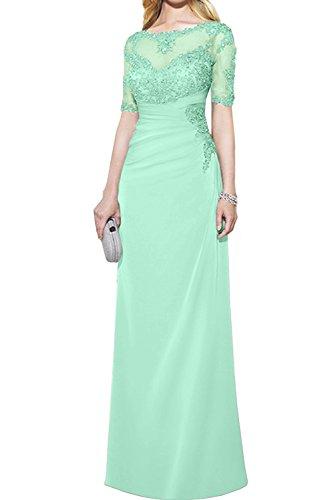 Neu Kurzarm Paillette Abendkleider Ivydressing Mintgruen Gruen mit Partykleider 2017 Spitze Bodenlang Promkleider vn5w1