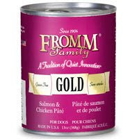 Fromm Gold Dog Food Canned Salmon Chicken Pate (12x13 oz)