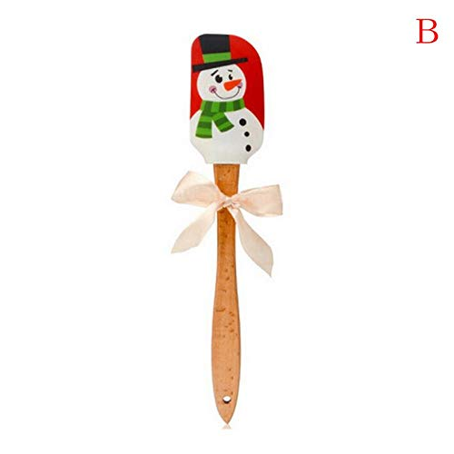 Mould - Butter Scraper Christmas Santa Ginger Pie Snowman Silicone Wood Handle Cake Cream Mixing Cutter - Spatulas Pastry Baking Baking Pastry Spatulas Empire State Building Model Mill Cut