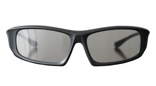 3 Paare von Black Erwachsene Passive 3D-Brille universal in einem umlaufenden Stil für alle passiven TV Kino und Projektoren wie RealD Toshiba LG Panasonic und vieles mehr