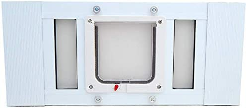 Aluminum Sash Window Pet Door – Cat Flap – 19 -24 Adjustable Width