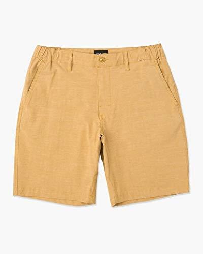 (RVCA Men's All Time Coastal Hybrid Short Apple Cinnamon 31)