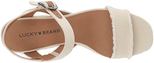Lucky Brand Women's Lk-Marceline Espadrille Wedge Sandal Milk gBCkkwhpO